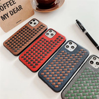 One Piece Luxury knitted PU phone case For iPhone 7 8P XR 11...