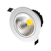 Alto brilho não-regulável downlight led cob 5 w 7 w 10 w 12 w luz de teto holofote AC110V / 220 v recesso downlight iluminação interior