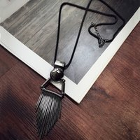new korea Bohemia Style Women Long Necklaces High Quality Al...