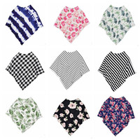 Nursing Covers Mor Stipe Grid Baby Bilstolsskydd Canopy Andningsbar Maternity Rose Flower Stretchy Infinity Scarf Amning C323
