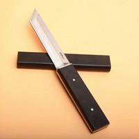 Offre spéciale Katana D2 acier Tanto Satin Lame d'ébène poignée fixe couteaux lame avec couteau Collection bois gaine