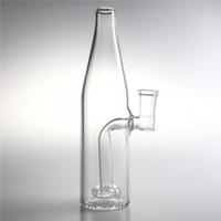 Neue 7,5 Zoll Medium Glas Bong Wasserpfeifen mit 14mm Weibliche Dicke Beruhigende Glas Tupfen Rigs Bierflasche Recycler Bongs für das Rauchen