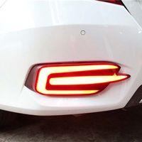 Taillights-Montage für Honda Civic Limousine-Heckschuh-Bumper-LED-Bremse-DRL-Fahrdrehtauge Umkehrnebelscheinwerfer 2 Funktion 2016-2018