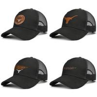 남성과 여성의 트럭 캡 야구 스타일에 텍사스 롱혼 라운드 로고 블랙 장착 패션 모자 2018 NCAA 대학 월드 시리즈 메쉬