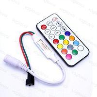 RGB Контроллеры Mini RF21key ИК-контроллер Освещение Аксессуары DC5-24V для Волшебной полосы WS2811 / SK6812 / WS2812B / 6803 / 6812/ 1903