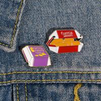 Émail Pin Set Set Poulet Nuggets Club Broche Sac à dos Vêtements Veste Pin Badge Badge Dessin animé Bijoux Cadeau Pour Femmes Hommes