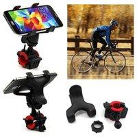 الجديدة 360 درجة للتدوير دراجة دراجة حامل الهاتف المقود كليب حامل جبل القوس للحصول على سامسونج الهاتف المحمول GPS MP4 MP5