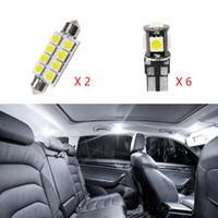 8 adet Beyaz Canbus Hata Yok LED Lamba Araba Ampüller İç Paketi Takımı 2010-2015 Volvo XC60 Harita Kubbe Kapı Plate Işık İçin