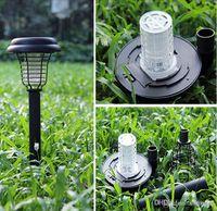 Solar UV LED Luz ao ar livre pátio do jardim do gramado Anti Mosquito Insect Pest Bug Zapper assassino Interceptação da lâmpada da lanterna luzes