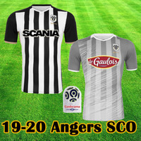 maillots SANTAMARIA Angers SCO 100ans 2019 2020 MANCEAU CAPELLE Soccer Jerseys SANTAMARIA THOMAS ALIOUI MATHIAS LAGE Football Shirt Tops