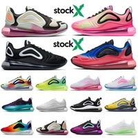 nike air max 720 airmax Qualidade superior das mulheres dos homens STOCK X tênis Oreo Fossils Pistachio Frost Pink Blast Be True 2020 Novo Designer Sneakers Speed Trainers