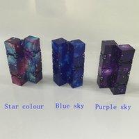 Fidget Infinity Cube Cube Fingertips Brinquedo para inquietação Novidade e Gag Trabalho Classe ou Home Entretenimento Multicolor Escolha Magia