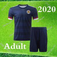 2020 2021 Scotland Adulte Kit Jerseys de football 20 21 Scotland Hommes Accueil McGregor McGinn Armstrong Robertson National Team Football Shirts Kits