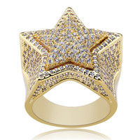 Best selling five- pointed star three- dimensional ring micro-...