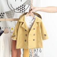 Ragazzi trincea cappotti della molla del cotone bambini sutumn moda vestiti per bambino delle ragazze tuta sportiva dei bambini dei ragazzi giacche casual doorout vestito