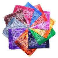 Tie Dye Bandana Souble Piazza Sfumatura di colore stampato capo colorato sciarpa Hip-Hop Foulard cotone Sciarpe fascia di favore di partito LJJP79-1