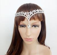 Em estoque Casamento noiva Headpiece Casar Da Noiva Cabeça Jóias Rhinestone Flor Crown Bride Headband Barroco Crown Hair Acessórios
