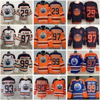 Hombres Mujeres Jóvenes Edmonton Oraslers Jerseys 97 Connor McDavid 99 Wayne Gretzky 29 Leon Draisaitl 93 Ryan Nugent-Hopkins Alex Chiasson James Neal