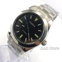 40mm Top luxury black dial green mark Sapphire glass automat...