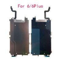 10pcs LCD-Metallrückplattenschild Home Button Extend Lange Flexkabel für iPhone 6 Plus 6G mit Kühlkörper