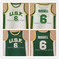 73b047af22a 2019 new High Quality University of San Francisco #6 Bill Russell Mens  Basketball Jersey Custom any name and number