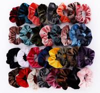 36 colori solidi fasce signora Hair Scrunchies anello capelli elastici di colore puro Bobble Danza sportiva morbida Accessori per capelli di Charme
