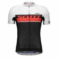 여름 빠른 건조한 남자 스콧 팀 짧은 소매 사이클링 저지 자전거 탑스 야외 운동복 도로 자전거 셔츠 Y21032605