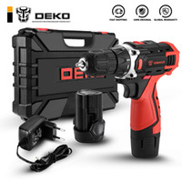 Broca DEKO New Banger 12V Cordless elétrica chave de fenda Mini Wireless Power Motorista DC Lithium-Ion Battery 8/3 polegadas