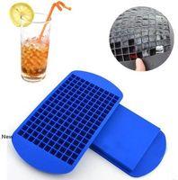 160 cuadrículas cubos de hielo fabricante de mini cubo de hielo de silicona moldes molde de la bandeja cocina de la herramienta para el whisky del cubo de hielo del molde LJJK2031