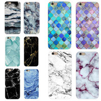 Glossy Marble Case For iPhone X Stone Image Pattern Cases So...