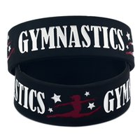 Nuovi arrivi ginnastica bracciali in silicone per le donne degli uomini lettera sport wristband del braccialetto 2019 gioielli di moda regalo in massa