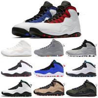 Erkekler Basketbol Ayakkabı Jumpman 10 10 S Erkek Çimento Gri Kızılötesi IM Geri Orlando Seattle Duman Gri Beyaz Spor Sneaker Boyutu 7-13