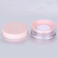 10g Kunststoff leeres Pulvergehäuse Gesichtspuder Make-up-Jar-Reise-Kit-Blusher-kosmetische Makeup-Behälter mit Sift Puder-Zug und Deckel