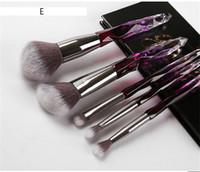 6style diamant Forme arc poignée 5pcs / set de maquillage Pinceaux Fondation professionnelle cristal pinceau de maquillage avec un sac opp