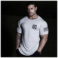 Erkekler Tasarımcı Spor Tayt Tişört Erkek Hızlı Kurutma Kısa Kollu Tişört Katı Renk Moda Letter Spor Sport Stil tişörtler Sıcak Satış