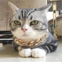 أزياء سلسلة الكلب الياقة الذهب الحيوانات الأليفة رابط تخصيص مجوهرات الحيوانات الأليفة هدية قلادة عنق سلسلة yq01138 الذهبي
