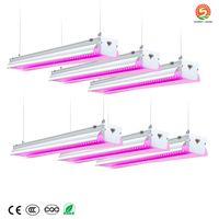 4FT LED Grow Lights 64W Spectrum integrado Integrated Lâmpada de lâmpada para estufa hidropônica planta interior plântula veg + estoque em nós