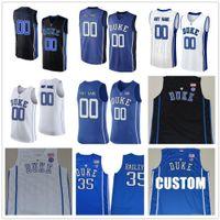 Männer Kundenspezifische Duke Blue Devils College Jersey Maßgeschneidert Jeder Name Number genäht Blau Weiß Schwarz Basketball-Trikots billig
