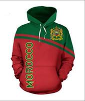 Mens Designer Hoodies für Frauen Männer Paare Sweatshirt Liebhaber 3D-Marokko-Flagge Hoodies Coats Hoodies Tees Kleidung RR048