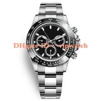 Céramique noire mens en acier inoxydable Japon VK64 Mouvement chronographe Mens Watch 5ATM imperméable à l'eau lumineux montre Diver