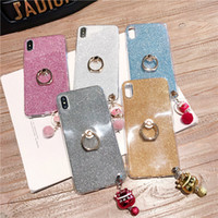For iPhone X Xr Xs Max 8 7 6S Plus Cute Lucky Cat Ringbell D...