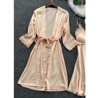 Seksi İç Kadınlar Dantel Robe Elbise Babydoll Gecelik Pijama Kimono
