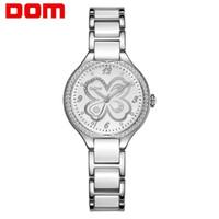 دوم أزياء المرأة الماس ساعات المعصم السيراميك watchband أعلى فاخر العلامة التجارية اللباس السيدات جنيف كوارتز ساعة G-1271D-7MS