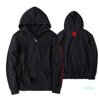 BTS amor você mesmo Brasão Cap World Tour de lã com capuz Jimin V SUGA solto Zipper Unisex outwear jaqueta com capuz