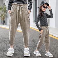 Детская одежда осень и зима новых девочек Брюки Мода Детские вельветовые брюки Детские повседневные брюки