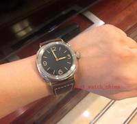 2019 lusso di alta qualità quadrante nero 47mm PAM00685 PAM685 685 cinturino in pelle cinturino in pelle orologi da uomo orologio da uomo automatico orologi Orologi l'ultima