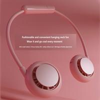 Hals Bleadeless Fan USB Gadgets Tragbare Nackenband Fans Handfrei Personal Mini Sport Neckfan 3 Geschwindigkeiten für Outdoor Office 360 Grad rotierend