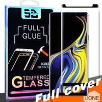 3D Full GULE Coverage Samsung Galaxy Note 용 케이스 친화적 강화 유리 S9 S8 Plus S7 S6 에지 커브 필름 Note8 스크린 보호기 패키지