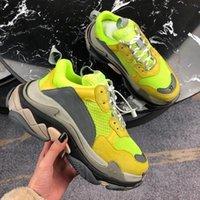 2019 FW Retro Triple S Sneaker Mens dell'annata di modo di Kanye West vecchio nonno formatori progettista delle donne degli uomini dei pattini casuali Size C14