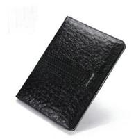 Moda Hombres Gran sobre Monedero Ocio Negocio Único bolso Tres estilos están disponibles en negro